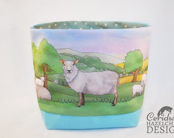 Sheep Fabric Storage Box, Storage Basket, Fabric Basket, Fabric Organiser, Storage Bin