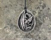 Pewter Dragon Egg Necklace - Pre-Order