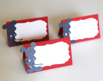 Mickey Mouse Place Cards/Seating cards/Mickey Mouse Party Decorations/Mickey Mouse Baby Shower/food tents