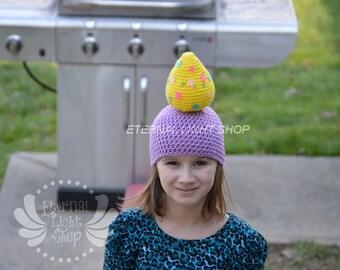 ALL SIZES/COLORS Easter Egg Beanie Crochet