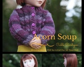 Cable Cardigan PDF Pattern for AGAT Doll