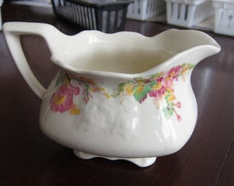 Myott, Son & Co., England - Earthenware Creamer - Please see Description for Condition - Flat Rate Shipping