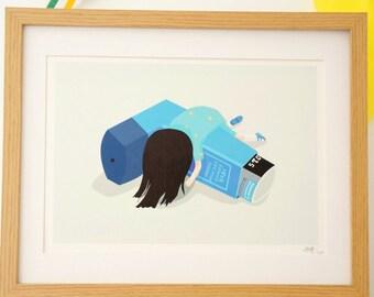 Lily Inhaler A4 Print