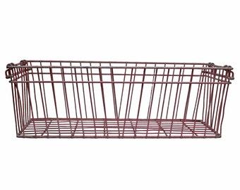 Vintage Industrial Long Wire Basket