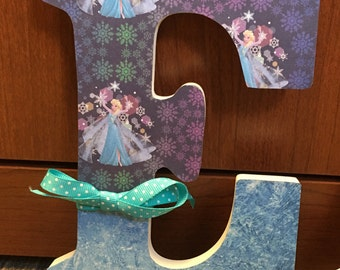 Custom Frozen Wooden Letters - Perfect for baby, nursery, kids room, library, classroom, photo shoot prop