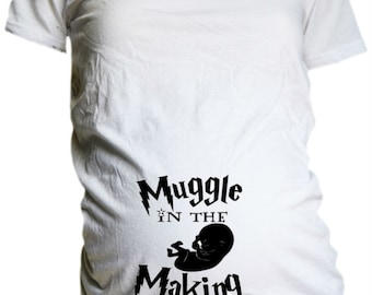 Harry Potter Maternity T Shirt / Muggle in the Making / Harry Potter T Shirt / Harry Potter Mother to Be Shirt / Harry Potter  Shower Gift