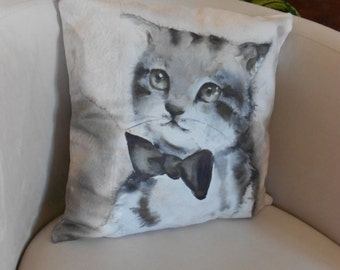 16''x16'',  Cats pillow, Throw pillow cushion, Decorative pillow case, Sofa pillow, Mother's day gift, Pillowcase, Cats