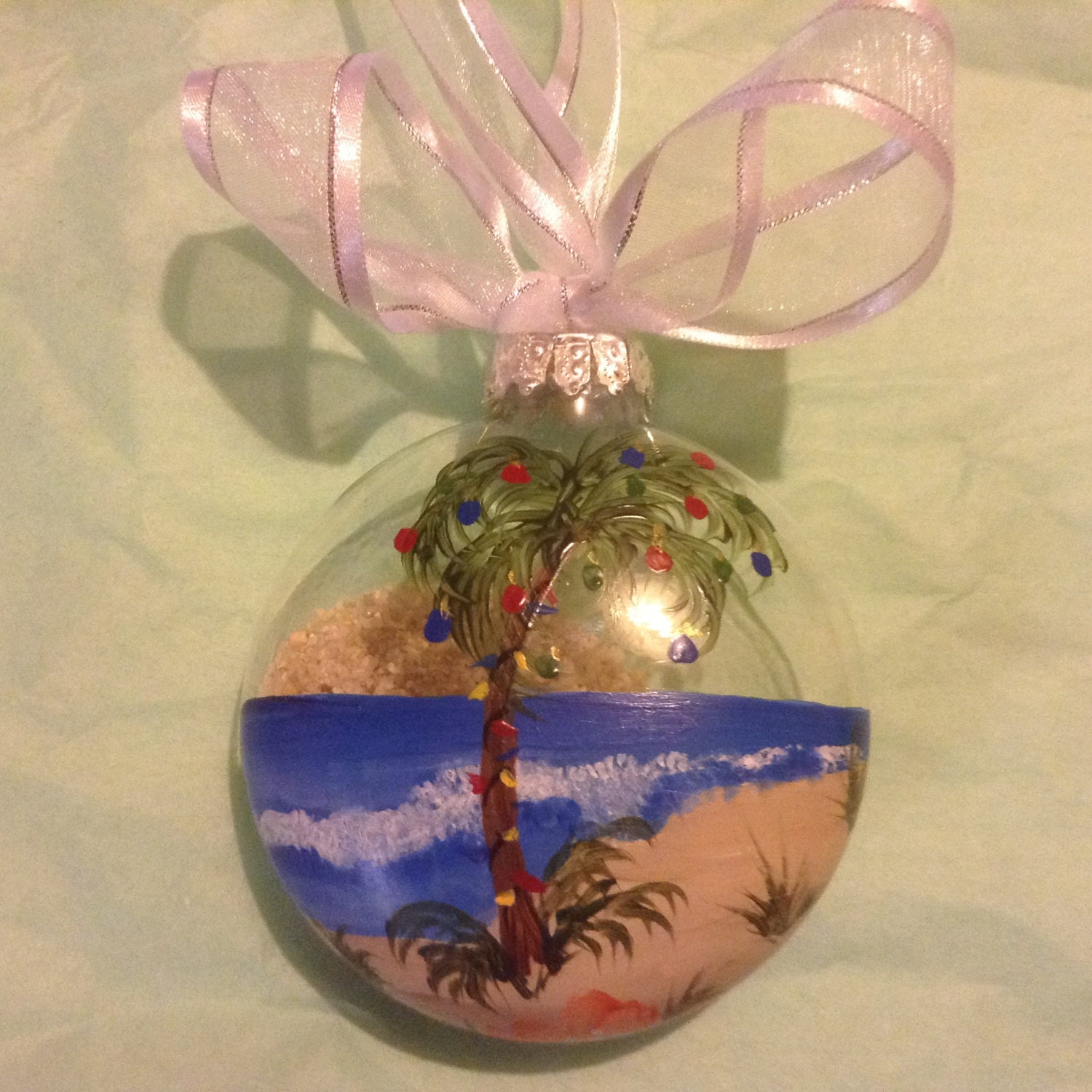 Painted Glass Christmas Ornaments