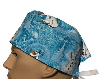 Unisex Scrub Cap - scrub hat - Character scrub hat - Kid's design scrub hat - Frozen Scrub Hat - Vet Tech Scrub Hat - Nurses hat