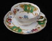 Vintage Tea Cup and Saucer, Copelands Grosvenor China, England
