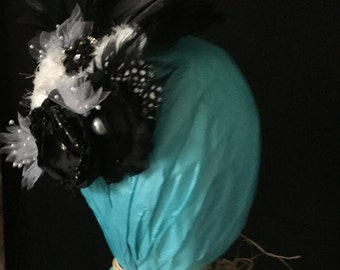 Black and White Wedding Hair Accessory