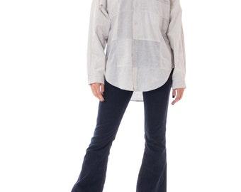 1980s Freego Sportswear Mixed Stripe Patchwork Shirt Size: S-M