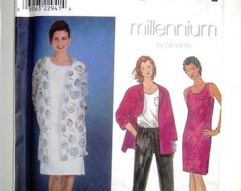 Misses Size Z 20 22 24 Simplicity 8686 Wardrobe Pullover Sleeveless Dress Top Drawstring Pants Trousers Slacks Jacket Pattern