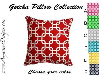 """Pillow Cover- Chainlink Pillow cover- Gotcha Pillow Cover.Geometric Pillow Cover .16"""",17"""",18"""",20"""" 24"""" 26"""", Lumbar Pillow or Euro Sham"""