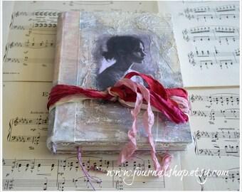 Handmade journal, diary, artist book, blank book, bride's journal, guest book