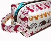 NEW boxy FOREST FRIENDS pencil case