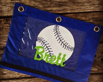Personalized Pencil Pouch, Baseball, Baseball Birthday, Baseball Birthday Party Favors, Personalized Pencil Case, Pencil Bag, School Bag