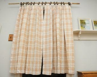 1970s Sears Curtain Panels ToughCord Orange Brown