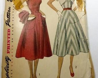 Vintage Simplicity Pattern 3490 Misses Sun Dress and Bolero Size 14