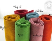 Wool felt bundle, choose your 6 colours 100% wool felt, felt by the yard, 6 colours  wool felt made from biofelt and coloured