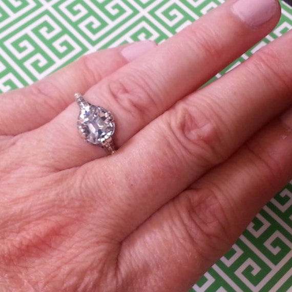 Edwardian Engagement Ring Antique Reproduction Engagement