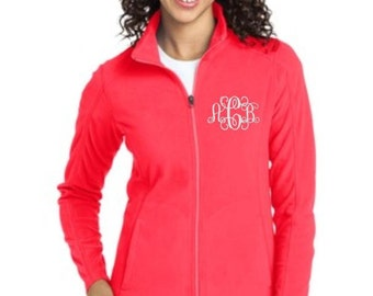 Jacket, Monogram Jacket, Fleece Jacket, Full Zip Jacket, Monogrammed Jacket, Personalized Gifts, Personalized Fleece Jacket, Jacket for Work