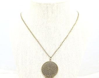 antique bronze dreamcatcher pendant necklace - maroon, dreamcatcher necklace, bronze necklace, pendant necklace, antique bronze, boho