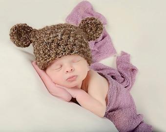 Baby Bear Hat Newborn Baby Hat Baby Girl Hat Baby Boy Hat Brown Bear Baby Hat Baby Ear Hat Baby Animal Hat Newborn Photo Prop Newborn Prop