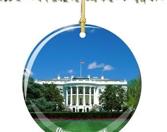 White House Porcelain Christmas Ornament Decoration