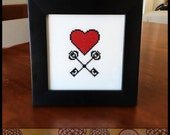 Heart of Arms Printable Cross Stitch Pattern ( Printable PDF ) - Immediate Download from Etsy - Red Love Unique Needle Craft