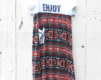 Plus size maxi dress, Empire waist dress, Upcycled clothing, Back to school dress, repurposed clothes, boho dress, hippie dress, size XL-1X