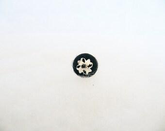 Black minimalist ring. Small blak ring. Wool felted ring. Wool felt ring. Adjustable ring. Modern ring. Unique ring.
