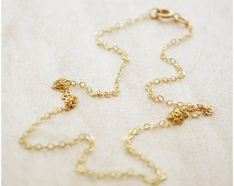 12Kt Gold Filled Chain - Valentine's Day - Plain Chain Necklace - Fine Cable Chain Necklace