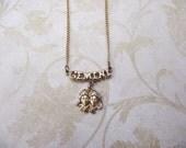 Gemini Jewelry, Gemini Necklace, Horoscope Necklace, Vintage Jewelry, Vintage Necklace, Astrology Gifts, Astrology Jewelry, Vintage Pendant