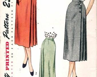 "Vintage 1950's Simplicity 3415 Misses Skirt Sewing Pattern Size Waist 24"" UNCUT"