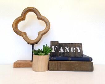 "Antique Brass Stencil, ""Fancy"" Antique Crate Stecil, Americana, Industrial Stencil, Advertising Stencil"