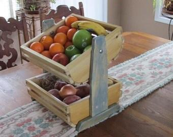 Two tier vegetable/fruit bins,crates, baskets