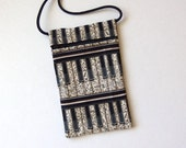 Pouch Zip Bag PIANO KEYS Fabric - great for walkers, markets, travel. Cell Phone Pouch, Piano bag. Musical Notes. small fabric purse.