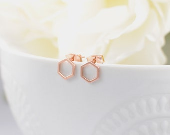 The Samira Earrings - Rose Gold