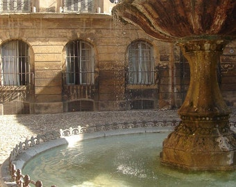 France Photography - La Fontaine d'Albertas - Aix-en-Provence - Provence - South of France - Fine Art Photography Print - Home Decor