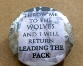 Wolves Pinback Button, Wolf Magnet, Wolf Pack Keychain, Wolf Lover, Werewolves Pin, Backpack Pins, Dark Humor, Funny Buttons, Alpha Wolf Pin