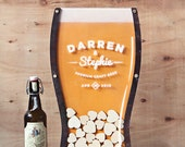 Size 3 - Beer Drop Hearts Wedding Guest Book Alternative - 21st Birthday, Anniversary, company guest book