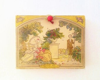 Vintage French Art Deco 1920s Chocolate Box from Boissier with Benito Illustration