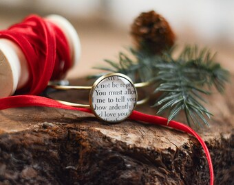 Pride and Prejudice, Jane Austen,  How Ardently, Book, Proposal, Classic Literature, Literary Jewelry, Bracelet Cuff, Bronze, Quote, Love