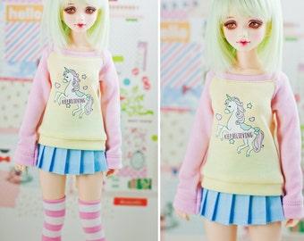 Slim MSD Minifee or SD BJD Sweaters - Unicorn Believe