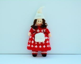 Christmas Doll Knitting Pattern Carol SingerChristmas