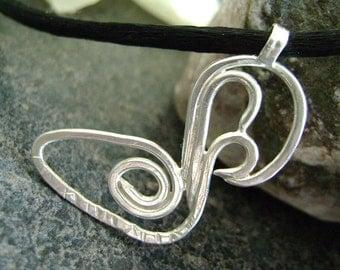 PRETTY COUPLE - Swan Pendant, Swans, Bird Jewelry, Bird Pendant, Sterling Pendant, Silver Jewelry, Artisan Pendant, Canadian, Couple