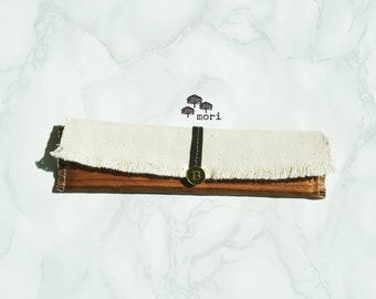 WOOD Mini native ! Eco Pencil Case for A5 to A4 notebooks (Made with real wood)
