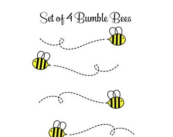Bumble Bee Decals - Nursery Bee Decals - Baby Nursery Decals - Bumble Bee Decor