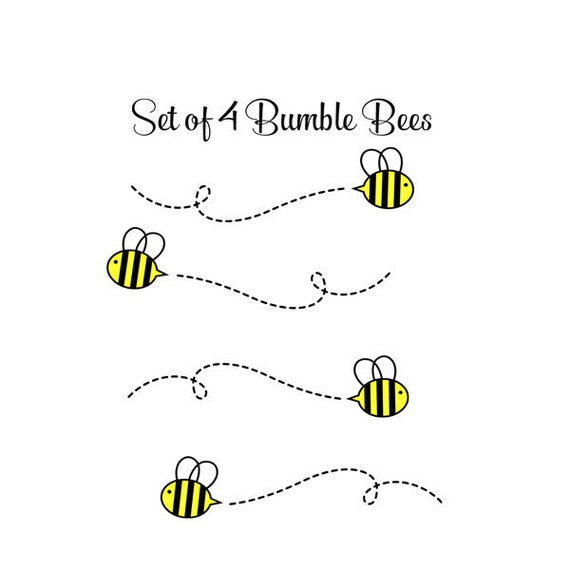 Bumble Bee Decals - Nursery Bee Decals - Baby Nursery Decals - Bumble Bee Decor
